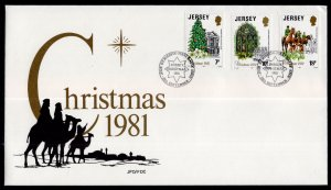 Jersey 282-284 Christmas U/A FDC