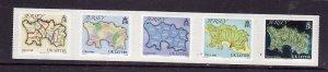 Jersey-Sc#1419-unused-Self-adhesives-set-Maps-2010-