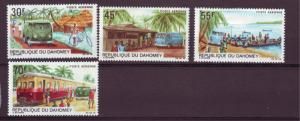 J15326 JLstamps 1968 dahomey set mh #c81-4 the mail