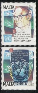 MALTA 1987 MNH SC.707/708 UN