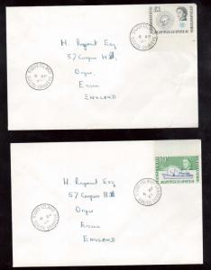 British Antarctic Territory #1 - #15 XF Used Set On Covers To UK