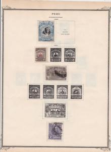 peru stamps page ref 17098