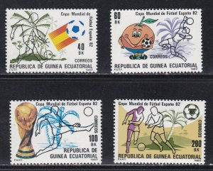 Equatorial Guinea # 55-58, World Cup Soccer, NH, 1/2 Cat.