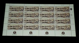 1969, ISRAEL #379,  PORT OF ASHDOD ISSUE, 0.60, SHEET/ 16 , MNH, NICE! LQQK!