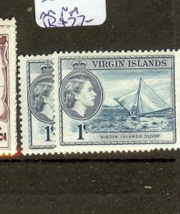 VIRGIN ISLANDS  (B1201) QEII  1C BOAT  SG150-150A  MNH