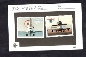 3261 & 3262 Space Shuttle Landing and Piggyback 1998 MNH