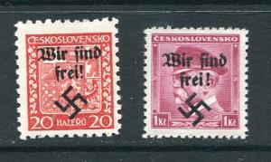 Czechoslovakia 1938 Overprint Wir find frei  Signed  MNH 7195