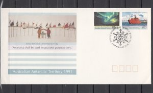 Australian Antarctic, Scott cat. L81-L82. Antarctic Treaty. First day cover. ^