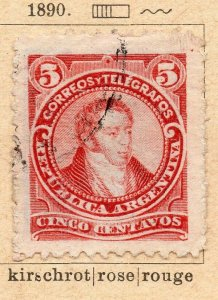 Argentina 1890 Early Issue Fine Used 5c. NW-11785