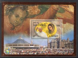 Mexico 2118 Pope John Paul II Souvenir Sheet MNH VF