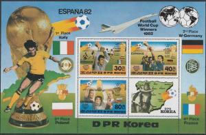 1982 Korea, North 2272-73/B124 1982 World championship on football of Spain 12,0