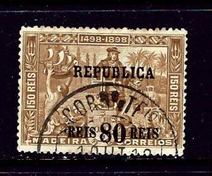 Portugal 204 Used 1911 surcharge