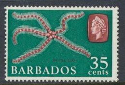 Barbados  SG 332 SC# 277  Brittle Star   Marine Life MVLH see scan