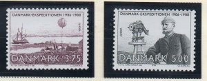 Denmark  Scott 1004-05 1994 Europa Expedition stamp set mint NH