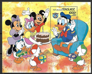 STAMP STATION PERTH Togo #1239 YTBF215 MNH S/S CV$15 50th Anniv Donald Duck