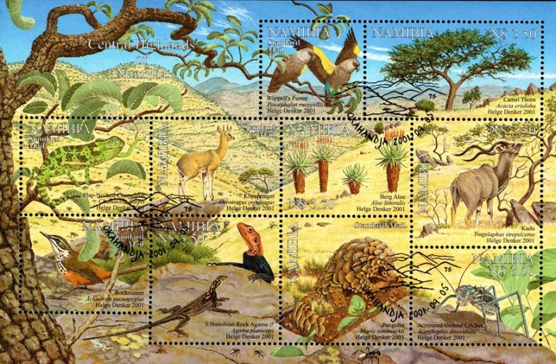 Namibia - 2001 Central Highlands Used SG 896a