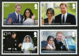 BAT British Antarctic Territory 2018 Prince Harry Meghan Royal Wedding Set MNH