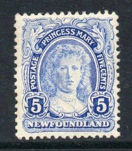 Newfoundland 1911 Coronation 5c Princess Mary SG 121 mint