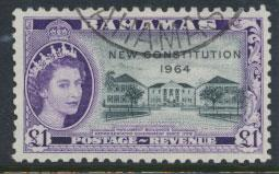 Bahamas  SG 243 SC# 200 Used/ FU New Constitution 1964 see scan