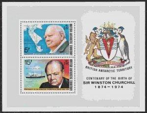 British Antarctic Territory #63a s/sheet F-VF Mint NH ** Winston Churchill