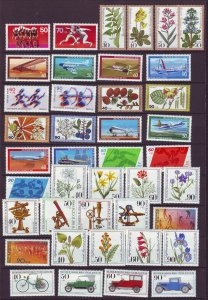 J24373 JLstamps 12 dif 1978-82 germany berlin sets mnh #9nb146-7//9nb187-90 nice