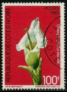 Ivory Coast #769A Used Stamp - Flowers (c)