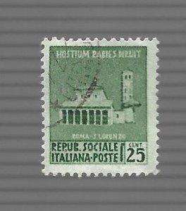 Republic Social Italy 1944 - Scott #19 *