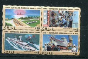 Chile MNH Block 840a Centenary Of Naval Forces 1989