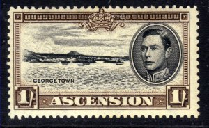 Ascension Island 1938 - 53 KGV1 1/-d Black & Sepia MM SG 44a ( R220 )