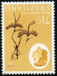 1962 Swaziland Sg 97w 7½c deep brown and buff Watermark Inverted Unmount