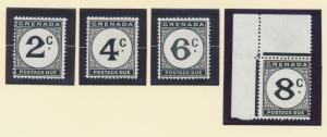 Grenada Stamp Set Scott #J15-8 Postage Due, Mint Never Hinged MNH - Free U.S....