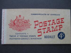 1957 SG SB34 4/- BOOKLET WITH 2 PANES OF SG313ab CV €38.00, FREE STD SHIP W/W