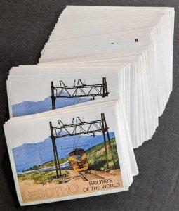 EDW1949SELL : LESOTHO 1984 Scott #458 Trains. 98 S/S. VF, Mint NH Catalog $220.