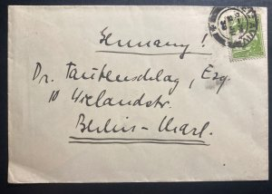 1938 Tel Aviv Palestine cover To Berlin Germany