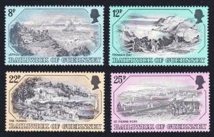 Guernsey Old Guernsey Prints Paintings 4v 2nd series SG#249-252 SC#236-239