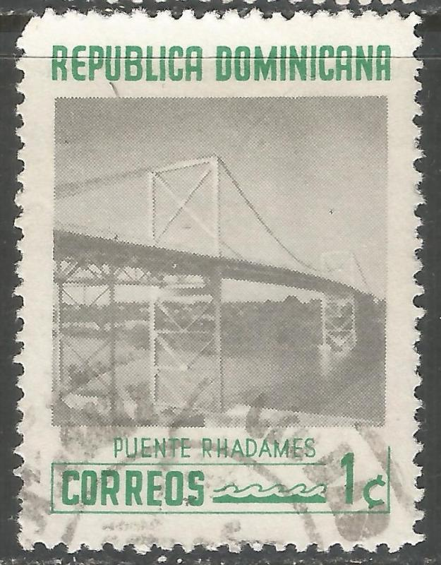 DOMINICAN REPUBLIC 518 VFU BRIDGE V503-5