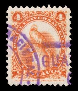 GUATEMALA STAMP 1957. SCOTT # 370. USED. # 1