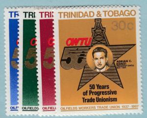 TRINIDAND AND TOBAGO 476 - 479  MINT NEVER HINGED OG ** OILFIELDS UNION - T652