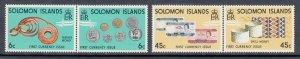 Solomon Islands Scott #361A-363A MNH