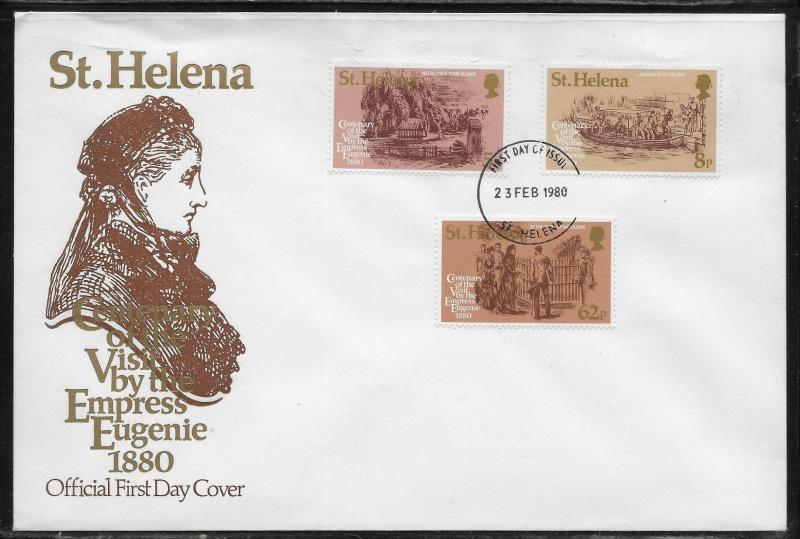 St. Helena 335-37 Visit to Napoleon Tomb Unaddressed FDC