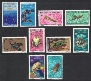 Upper Volta Insects Fauna 5v 1966 MNH SG#172=186