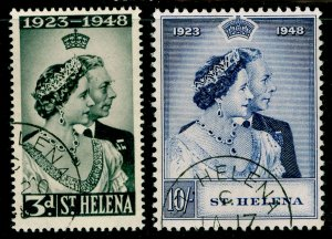 ST. HELENA SG143-144, COMPLETE SET, VERY FINE USED. Cat £42. RSW.