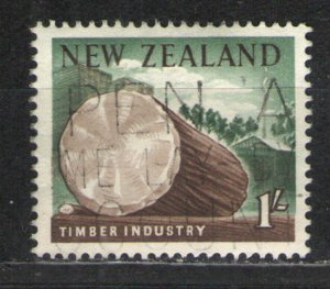 New Zealand 1960 Sc# 343 Used VG/F - Timber Industry