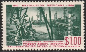 MEXICO C254, $1P 50th Anniv Mexican Revolution. MINT, NH. VF.