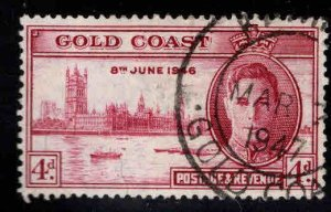 GOLD COAST Scott 129 Used Peace stamp