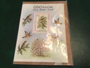 ICOLLECTZONE Grenada 1980 Wild Birds Vögel Oiseaux Souvenir Sheet MNH (Bk1-25)