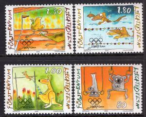 Liechtenstein 1185-1188 Summer Olympics MNH VF