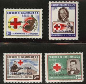 GUATEMALA Scott C235-8 MNH** 1960 overprint set
