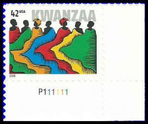 PCBstamps  US #4373 42c Kwanzaa, 2008, MNH, (8)