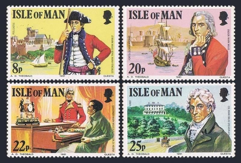 Isle of Man 193-196,MNH.Michel 189-192. Col.Mark Wilks,1981.St Helena,Napoleon.